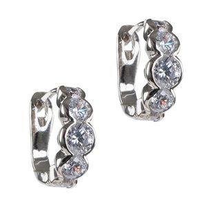 Kenneth Jay Lane Mini CZ Hoop Earrings